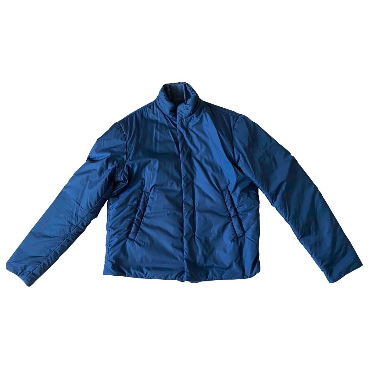 Emporio Armani \N Jacke in  Marine Polyester