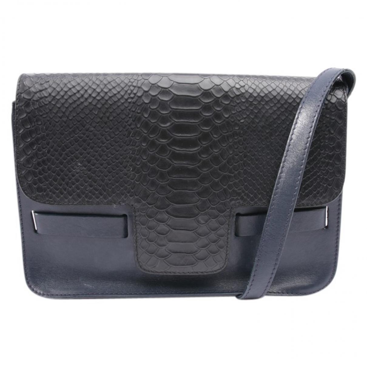 Lili Radu \N Blue Leather handbag for Women \N