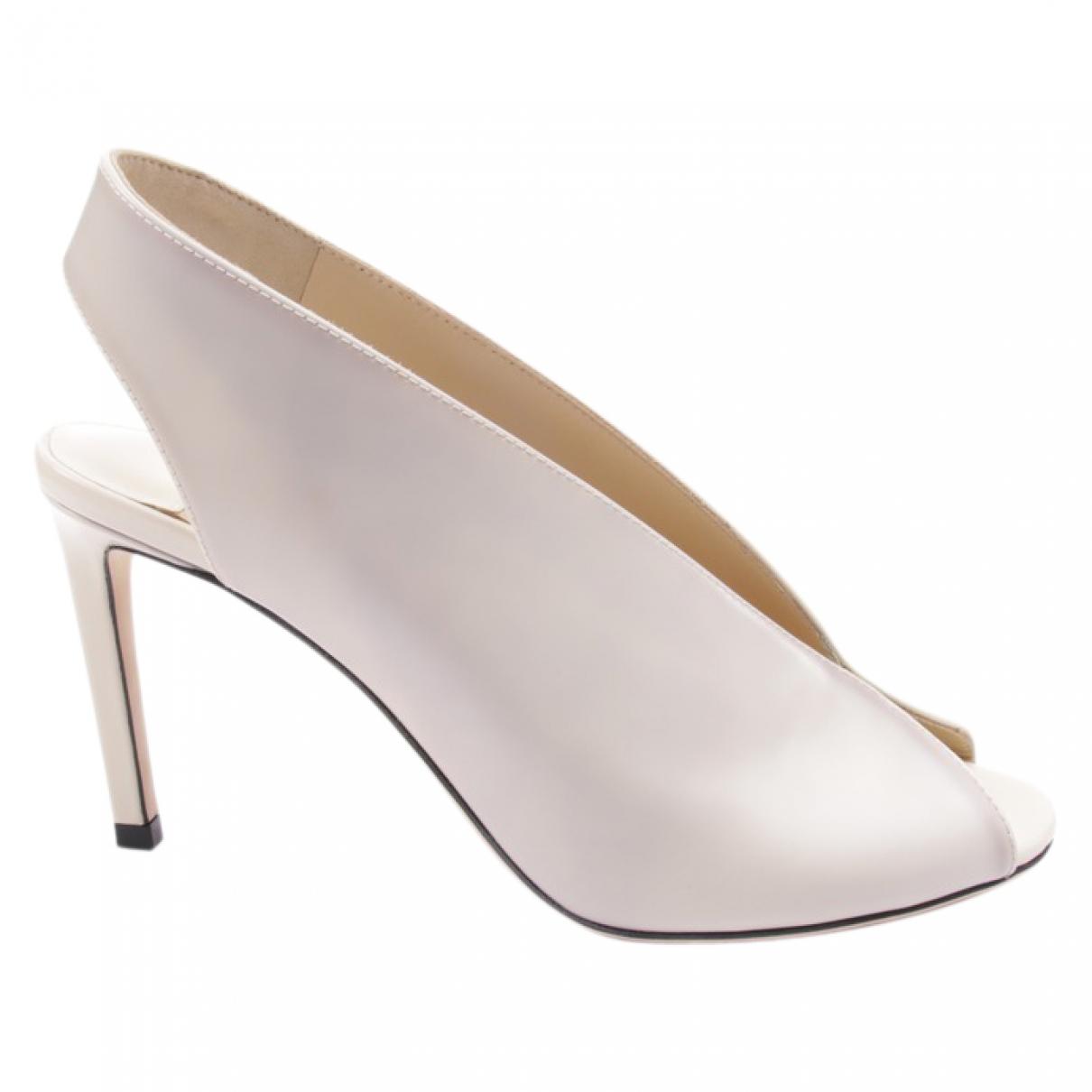 Jimmy Choo - Sandales   pour femme en cuir - blanc
