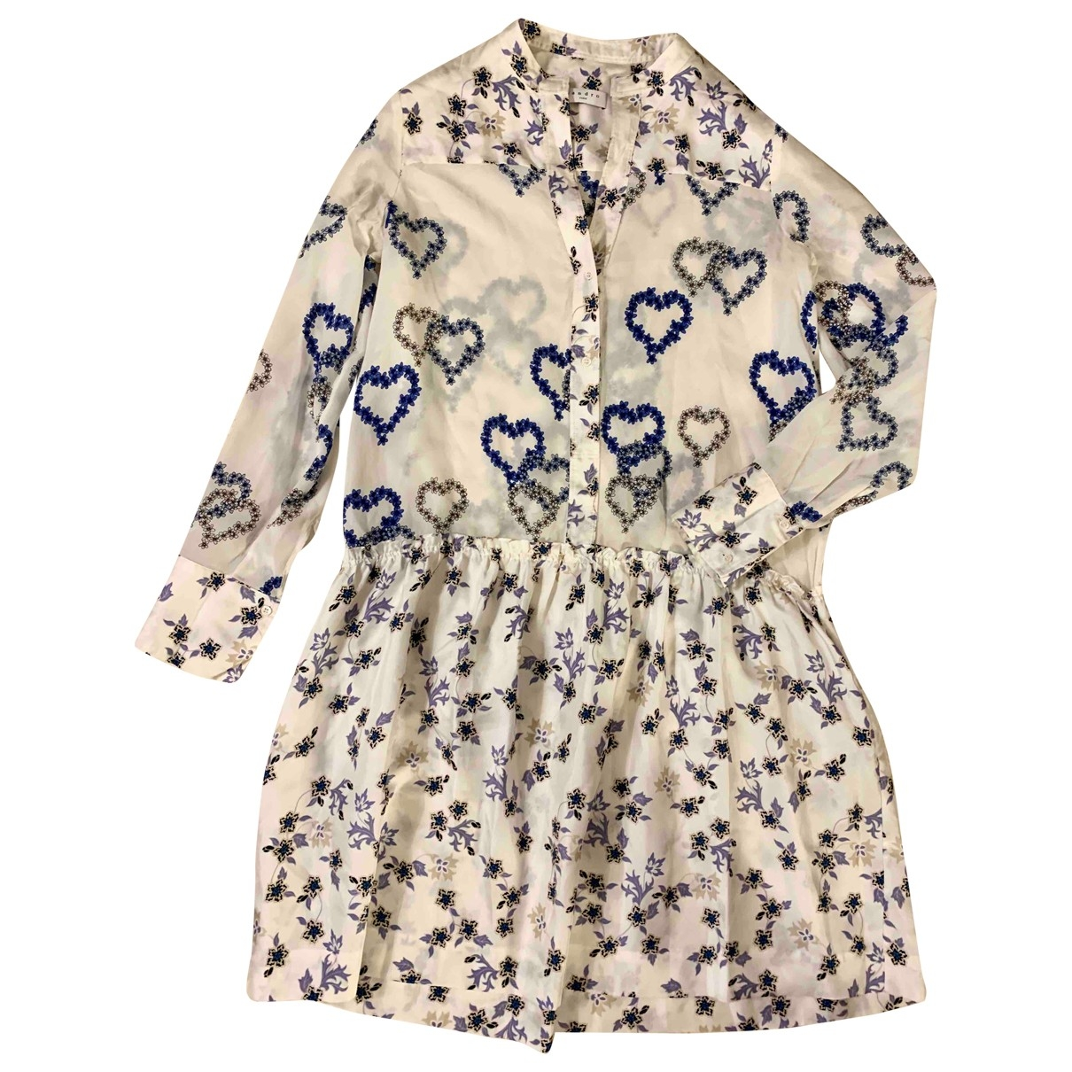 Sandro Spring Summer 2019 Kleid in  Blau Seide
