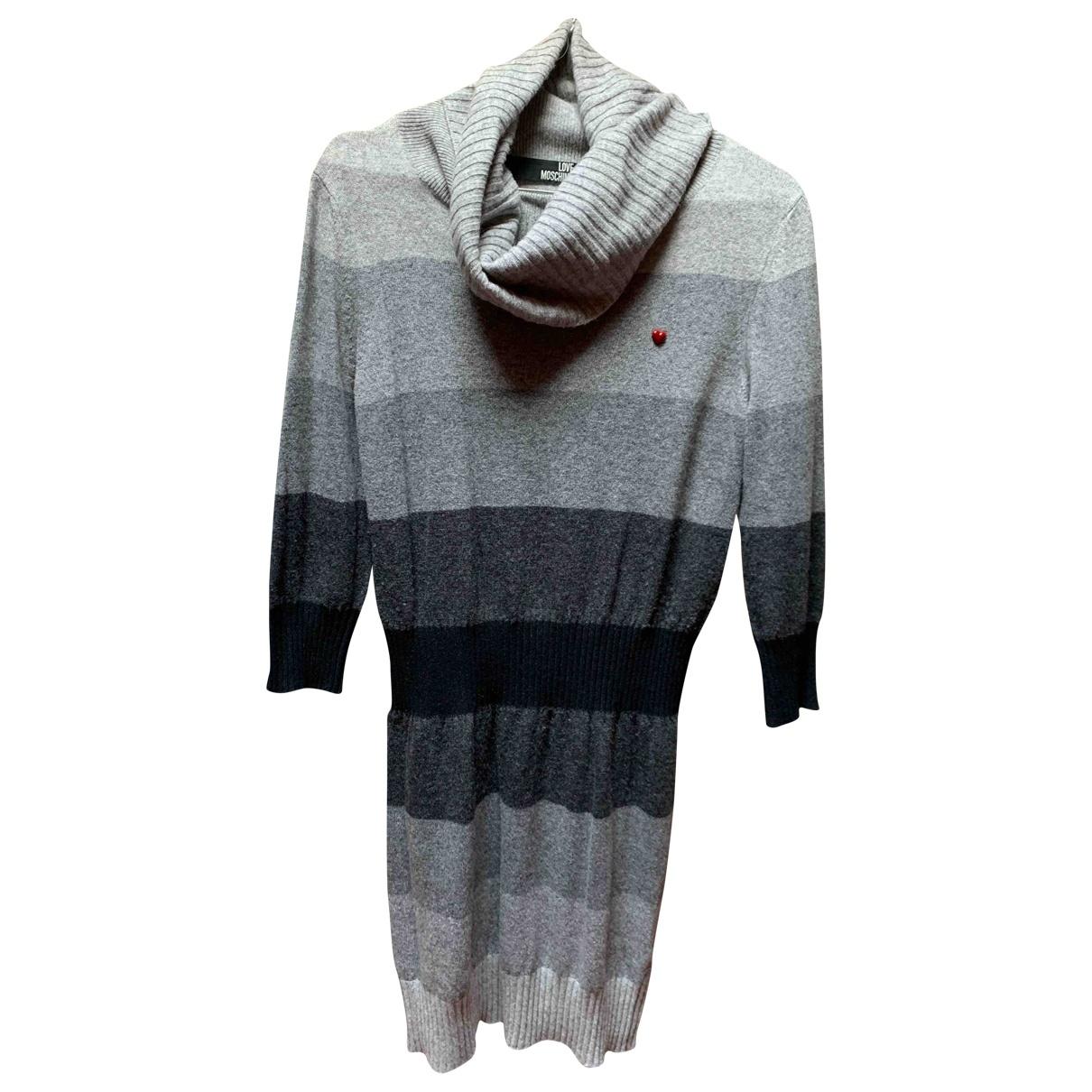 Moschino Love \N Kleid in  Grau Wolle