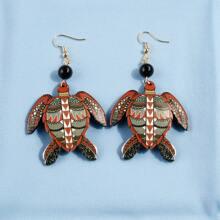 Turtle Drop Earrings
