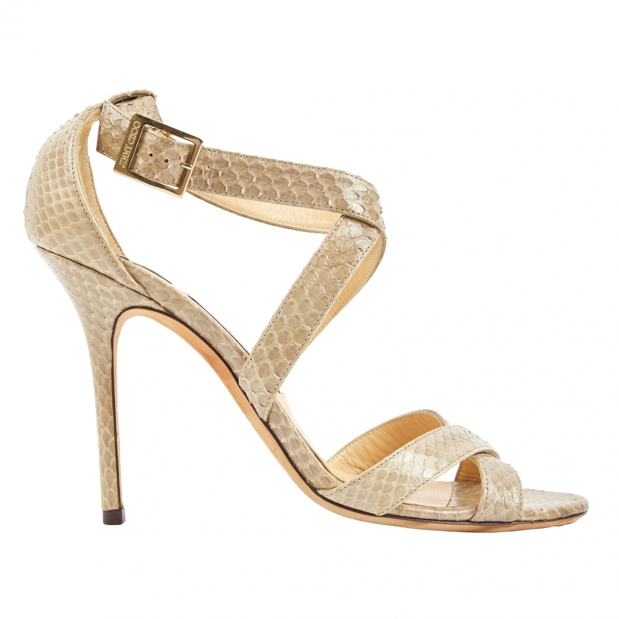 Jimmy Choo \N Beige Python Sandals for Women 41 EU