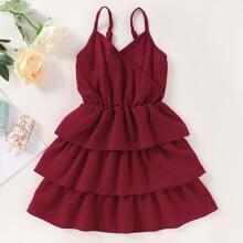 Kleinkind Maedchen mehrschichtiges Cami Kleid
