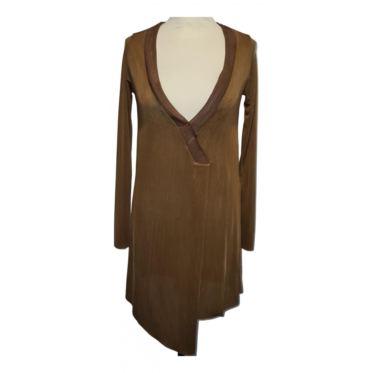 Zara \N Kleid in  Braun Viskose