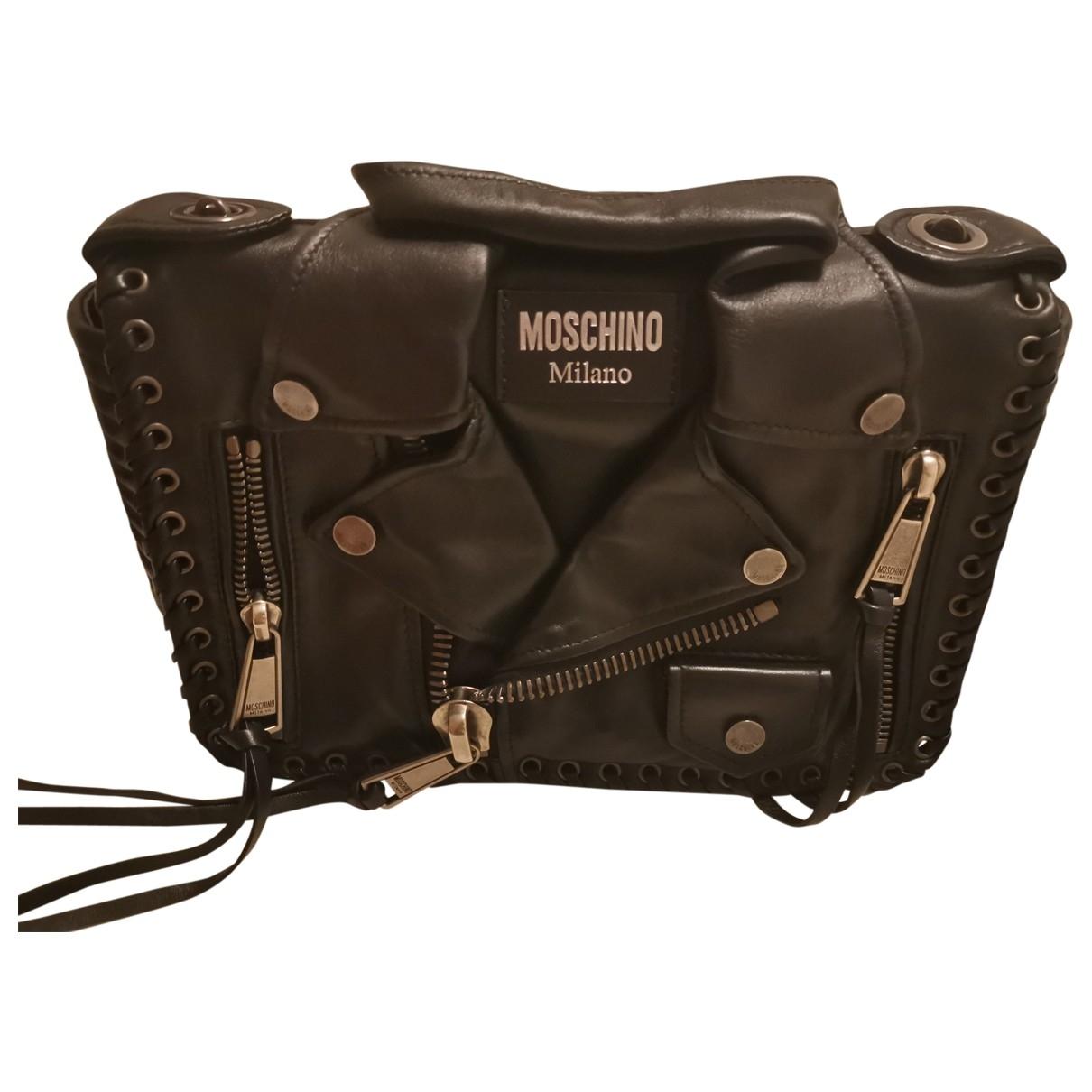 Moschino - Sac a main Biker pour femme en cuir - noir