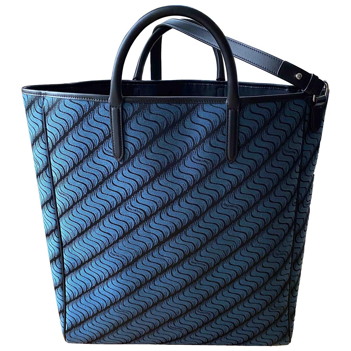 Smythson N Blue Leather handbag for Women N