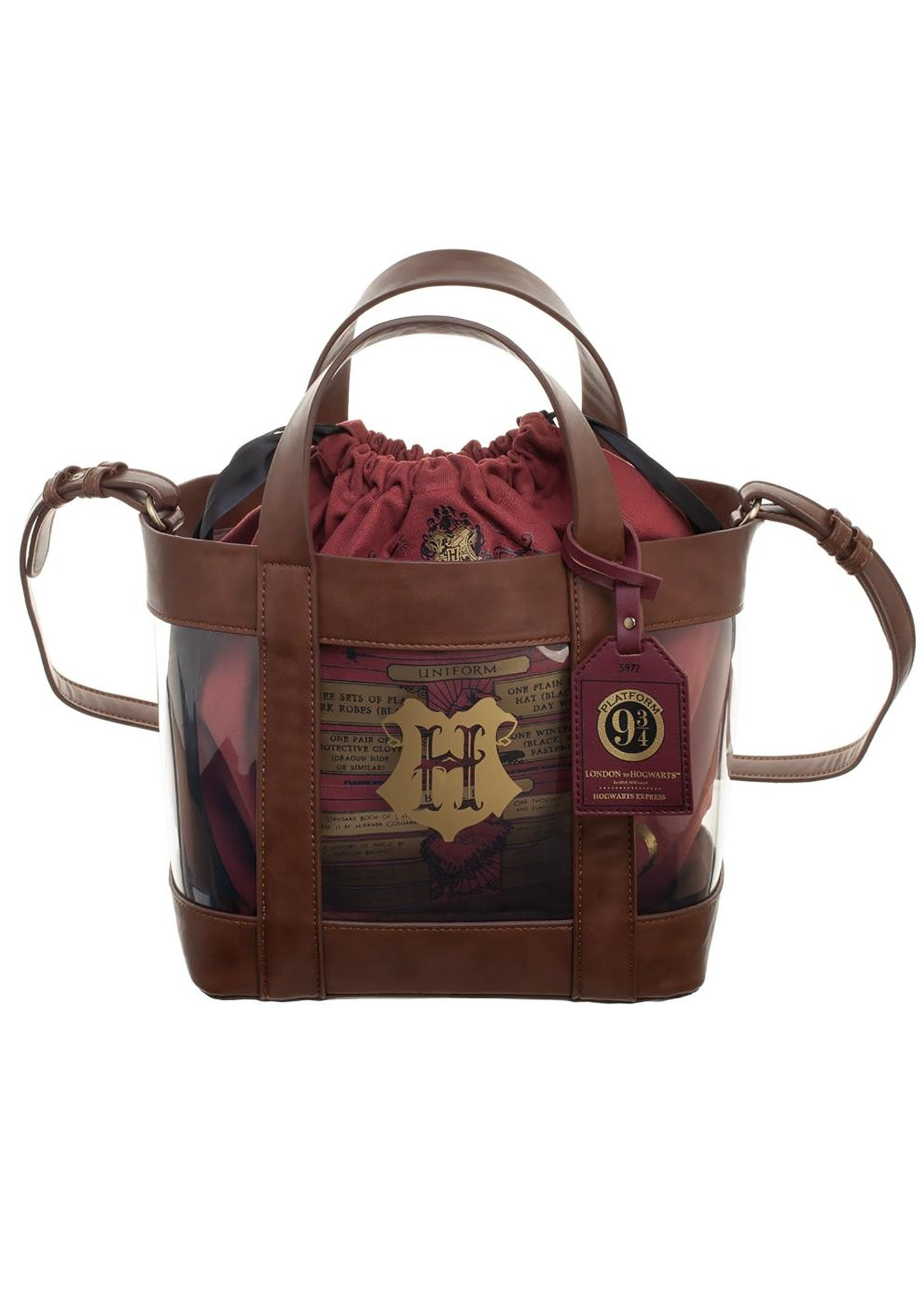 Harry Potter Clear Tote w/ Cinch Bag