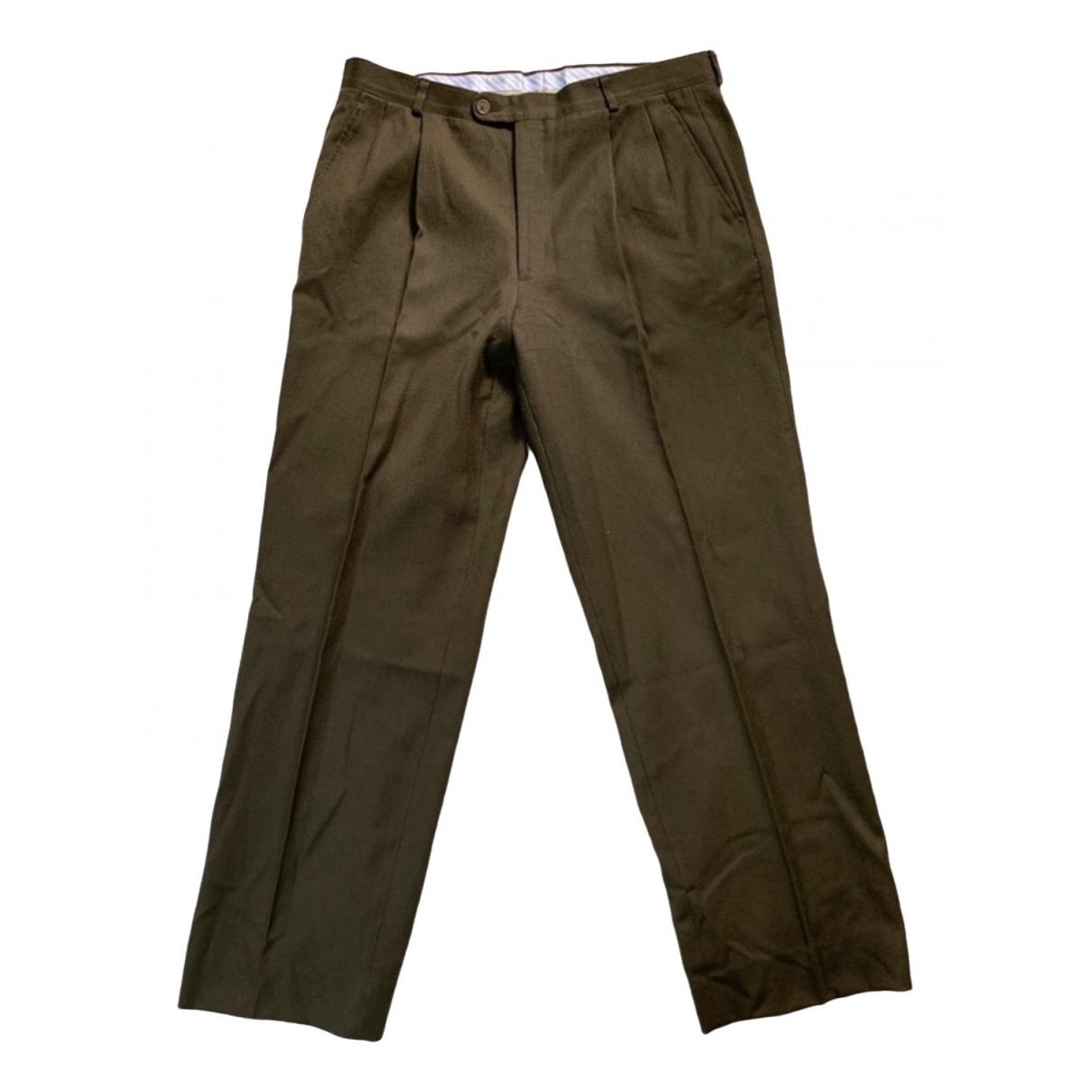 Yves Saint Laurent \N Khaki Wool Trousers for Men XL International