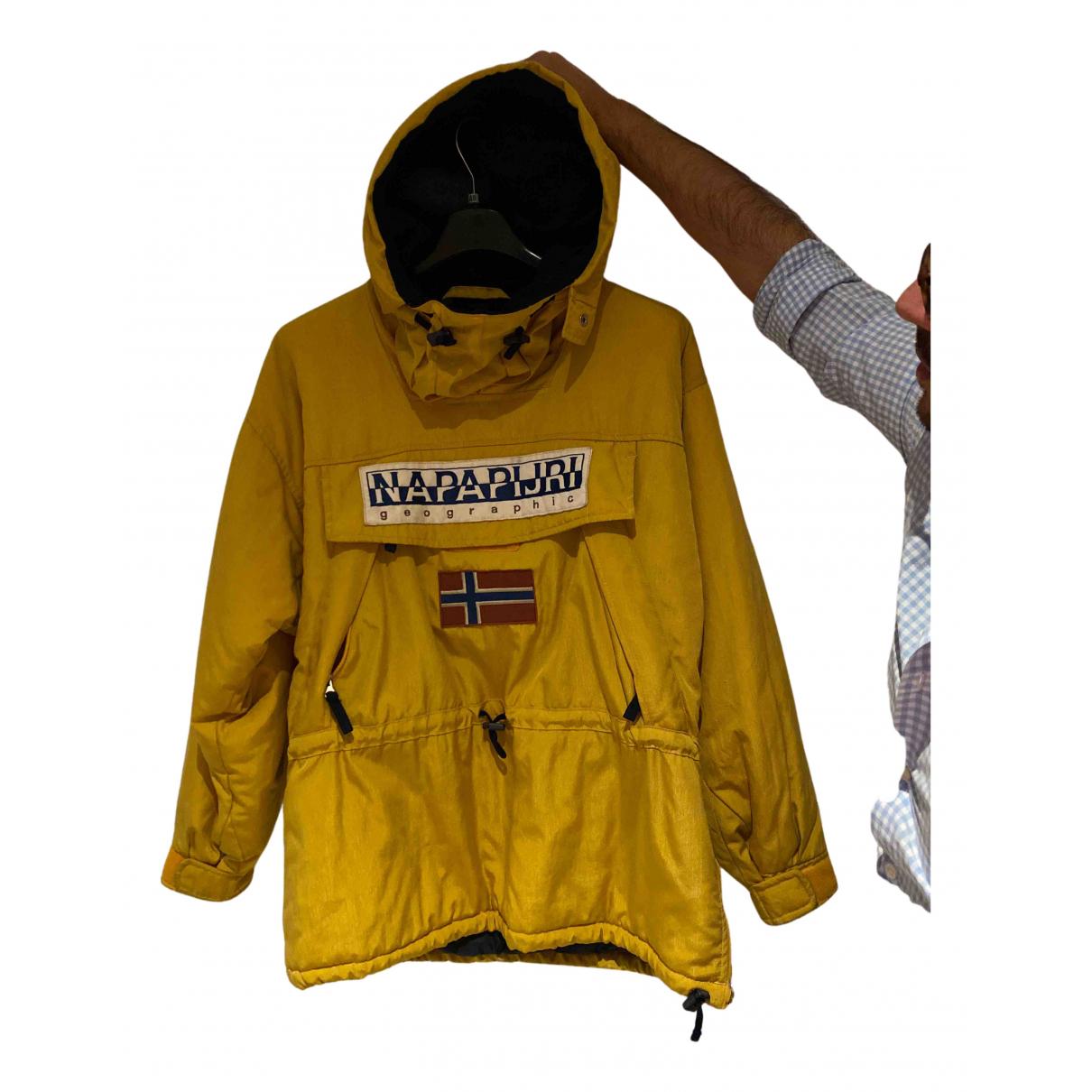 Napapijri - Manteau   pour homme - jaune