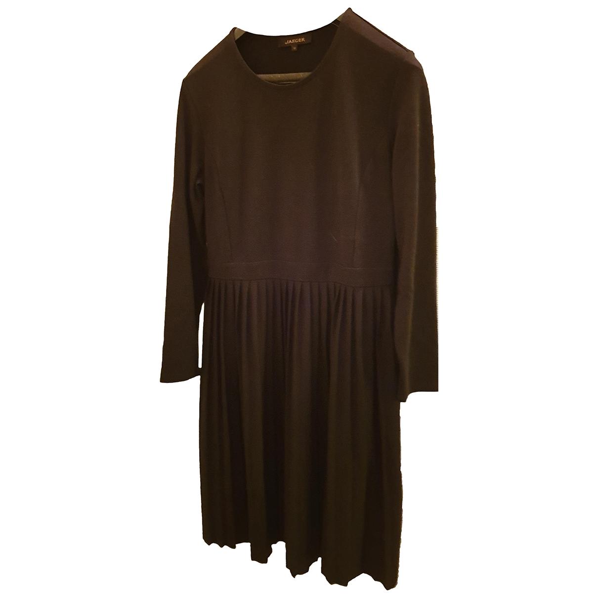 Jaeger \N Kleid in  Schwarz Viskose