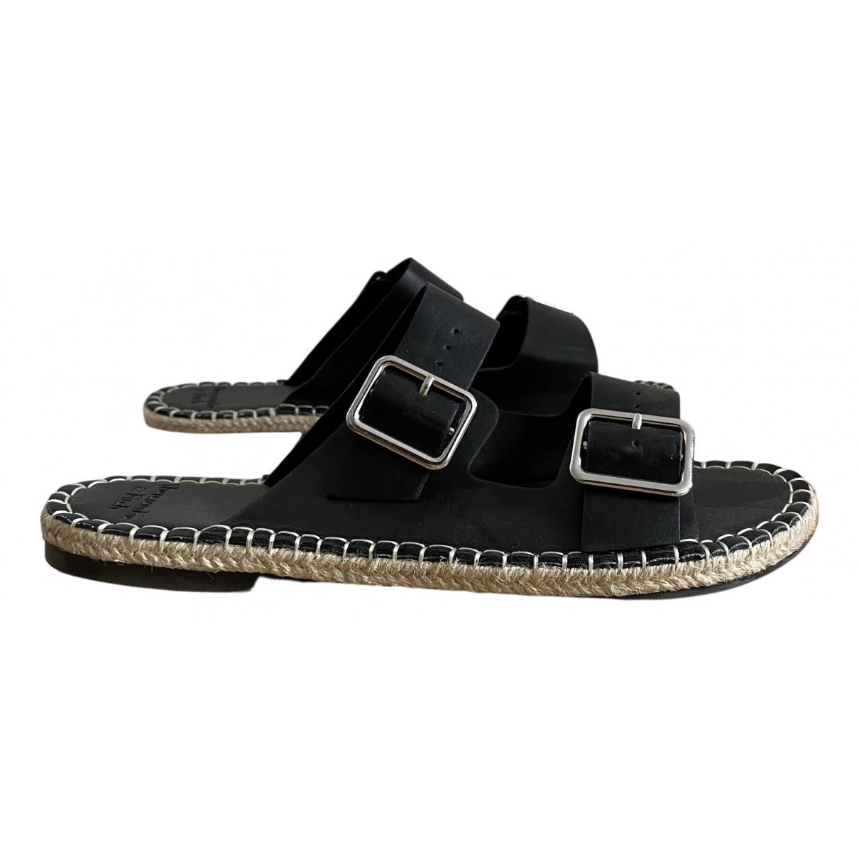 Abercrombie & Fitch \N Sandalen in  Schwarz Lackleder