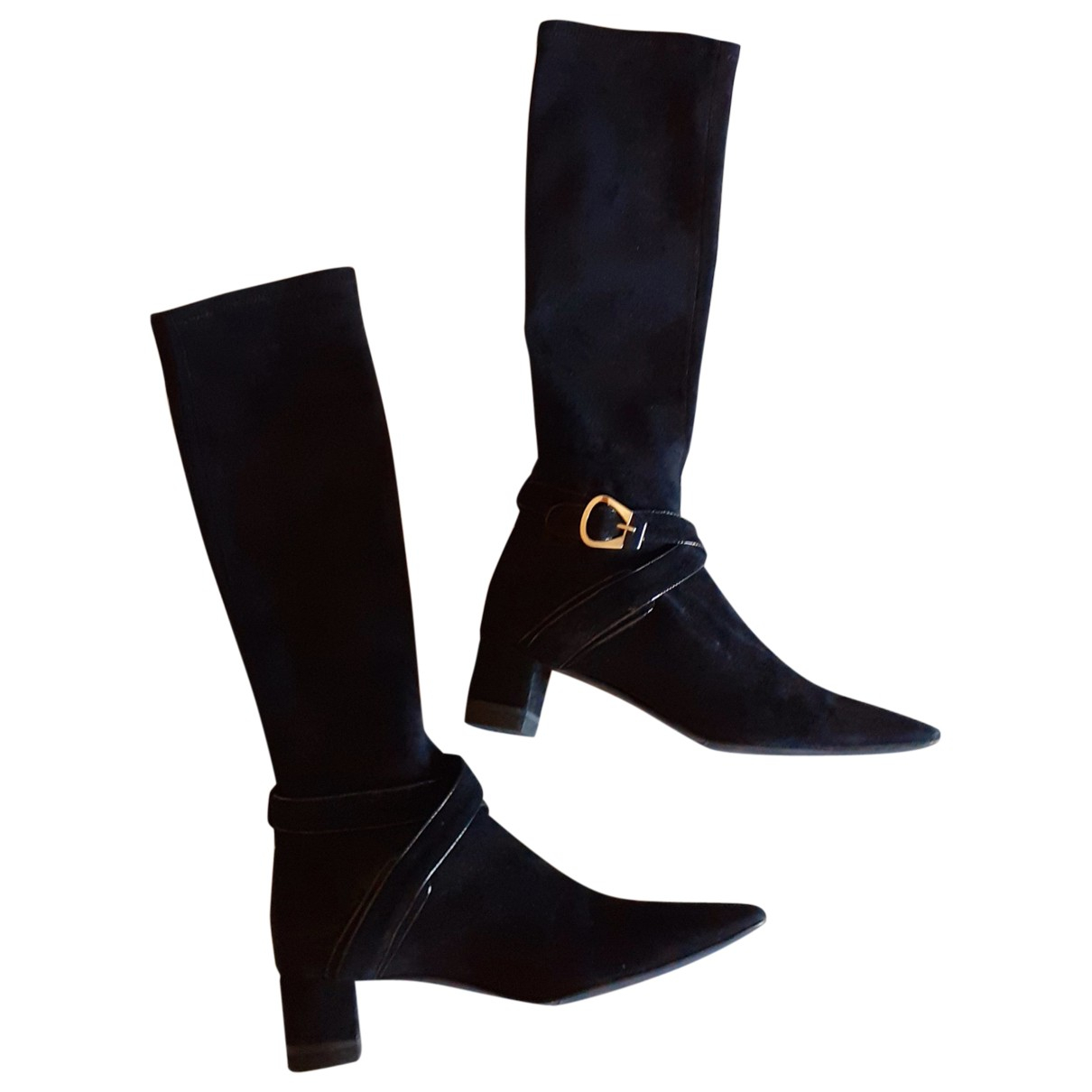Fratelli Rossetti N Black Suede Boots for Women 39.5 EU