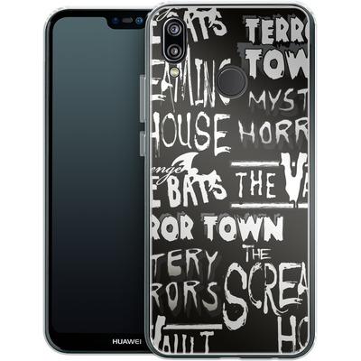 Huawei P20 Lite Silikon Handyhuelle - Terror Town Patterns von caseable Designs