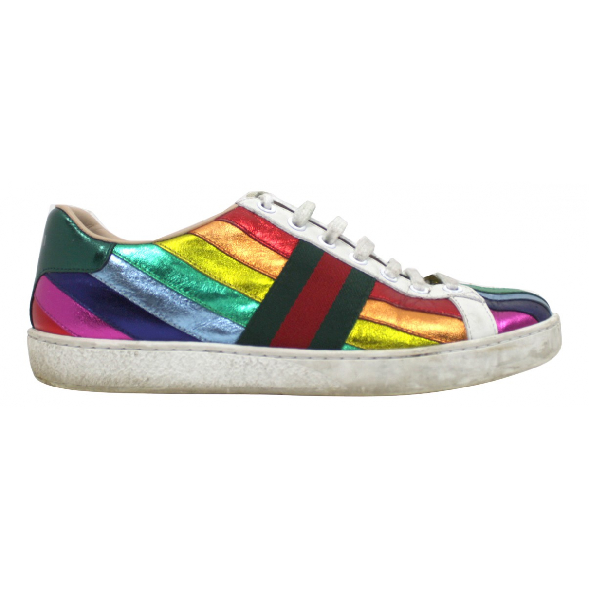 Gucci N Multicolour Leather Trainers for Women 36.5 EU