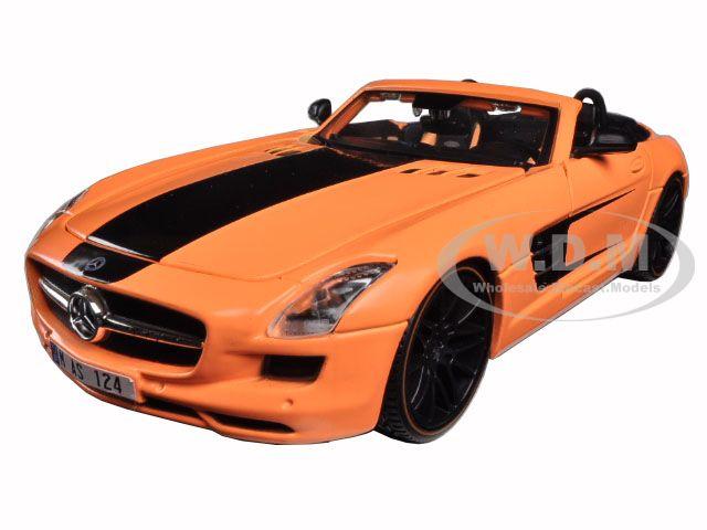 Mercedes SLS AMG Roadster Orange Custom 1/24 Diecast Model Car by Maisto