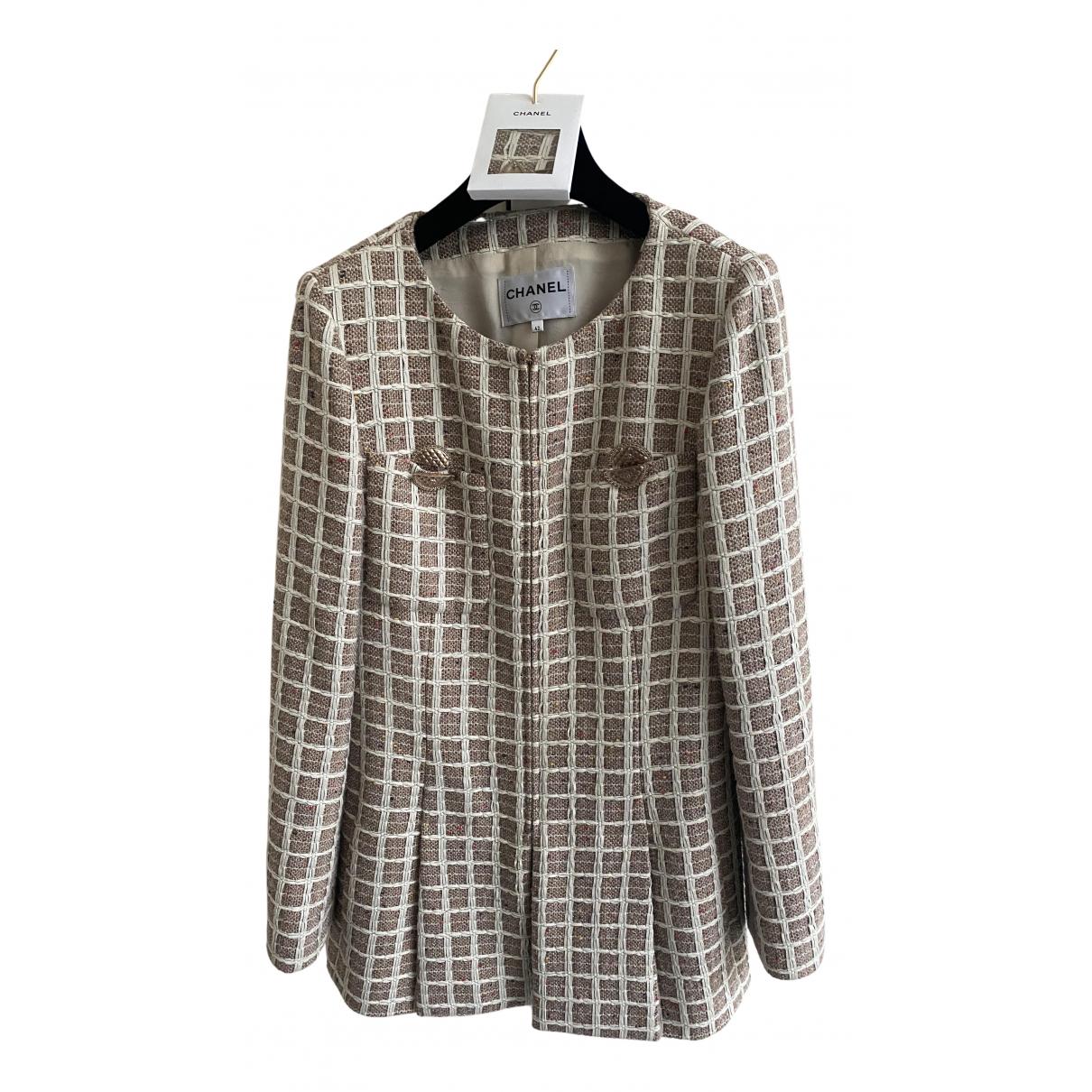 Chanel N Beige Cotton jacket for Women 42 FR