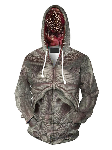 Milanoo Stranger Things Demogorgon Costume 3D Print Hoodie