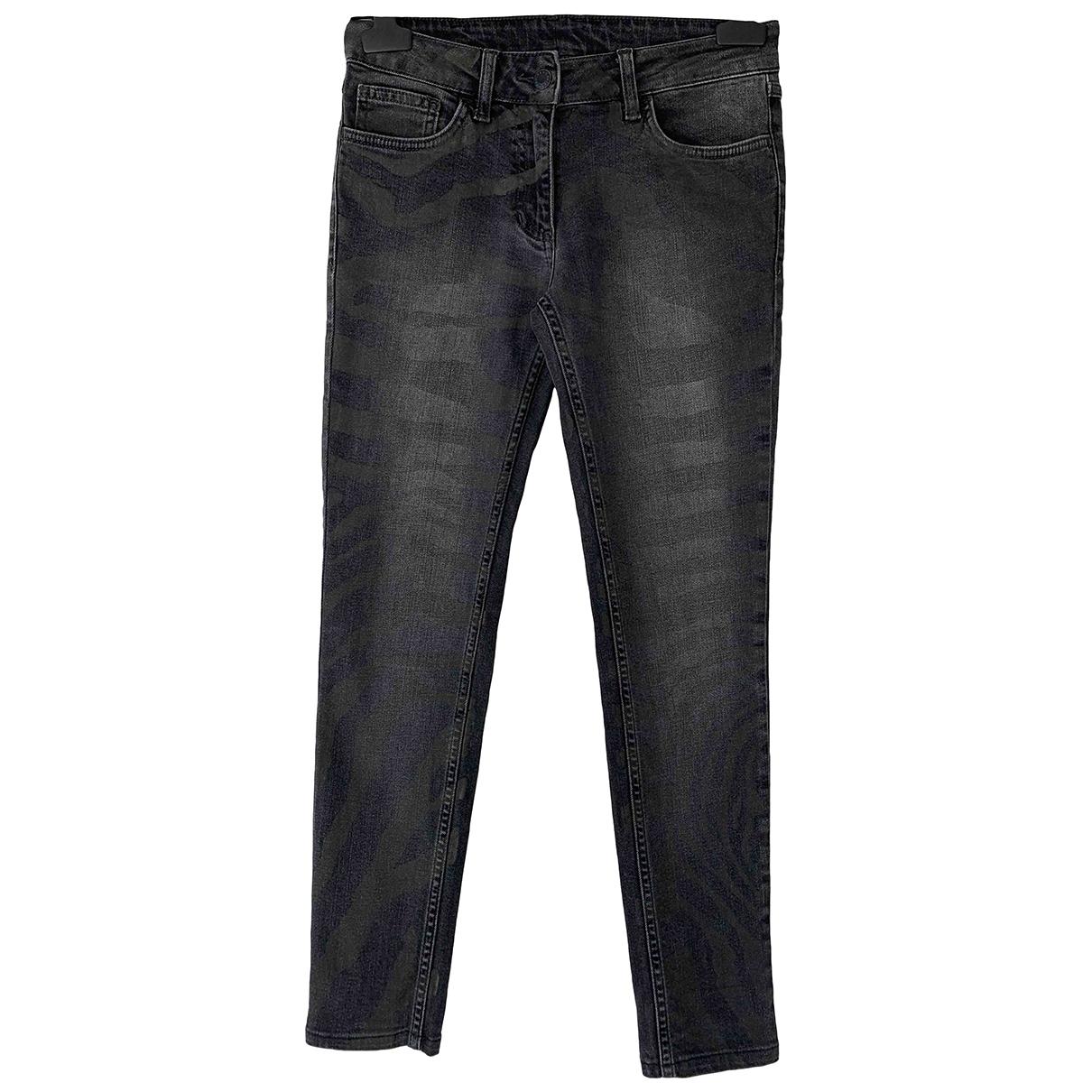 Sandro \N Black Cotton - elasthane Jeans for Women 36 FR