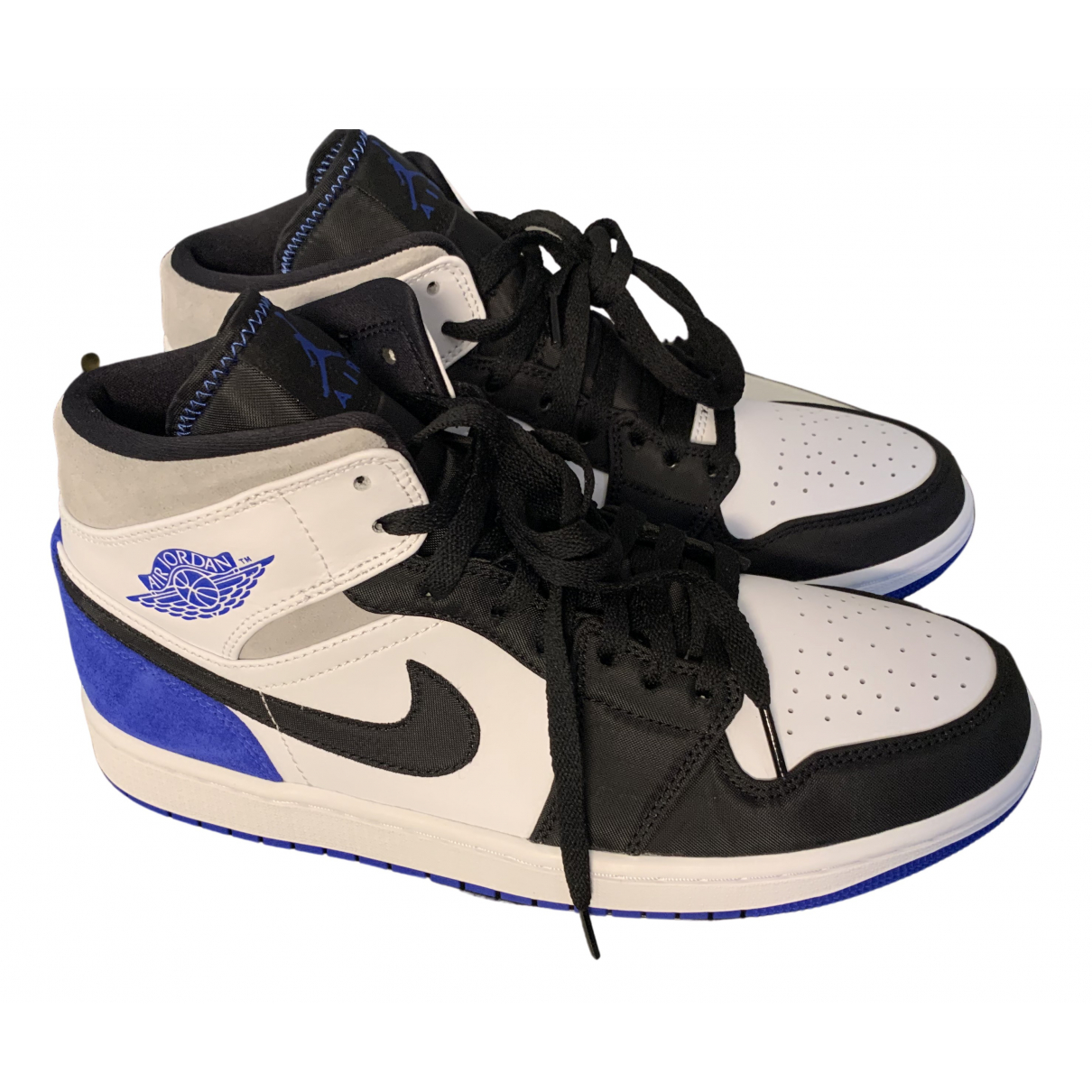 Jordan Air Jordan 1  Sneakers in  Blau Leder
