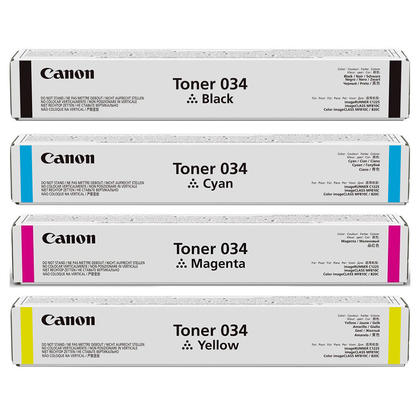 Canon 034 cartouche de toner originial combo BK/C/M/Y