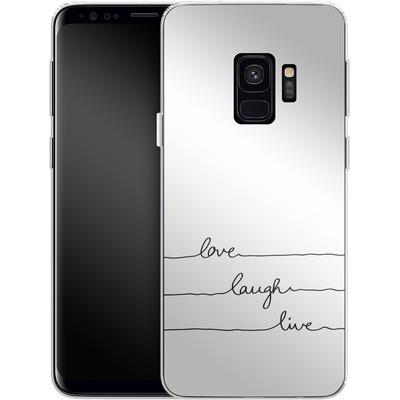 Samsung Galaxy S9 Silikon Handyhuelle - Love, Laugh, Live von Mareike Bohmer