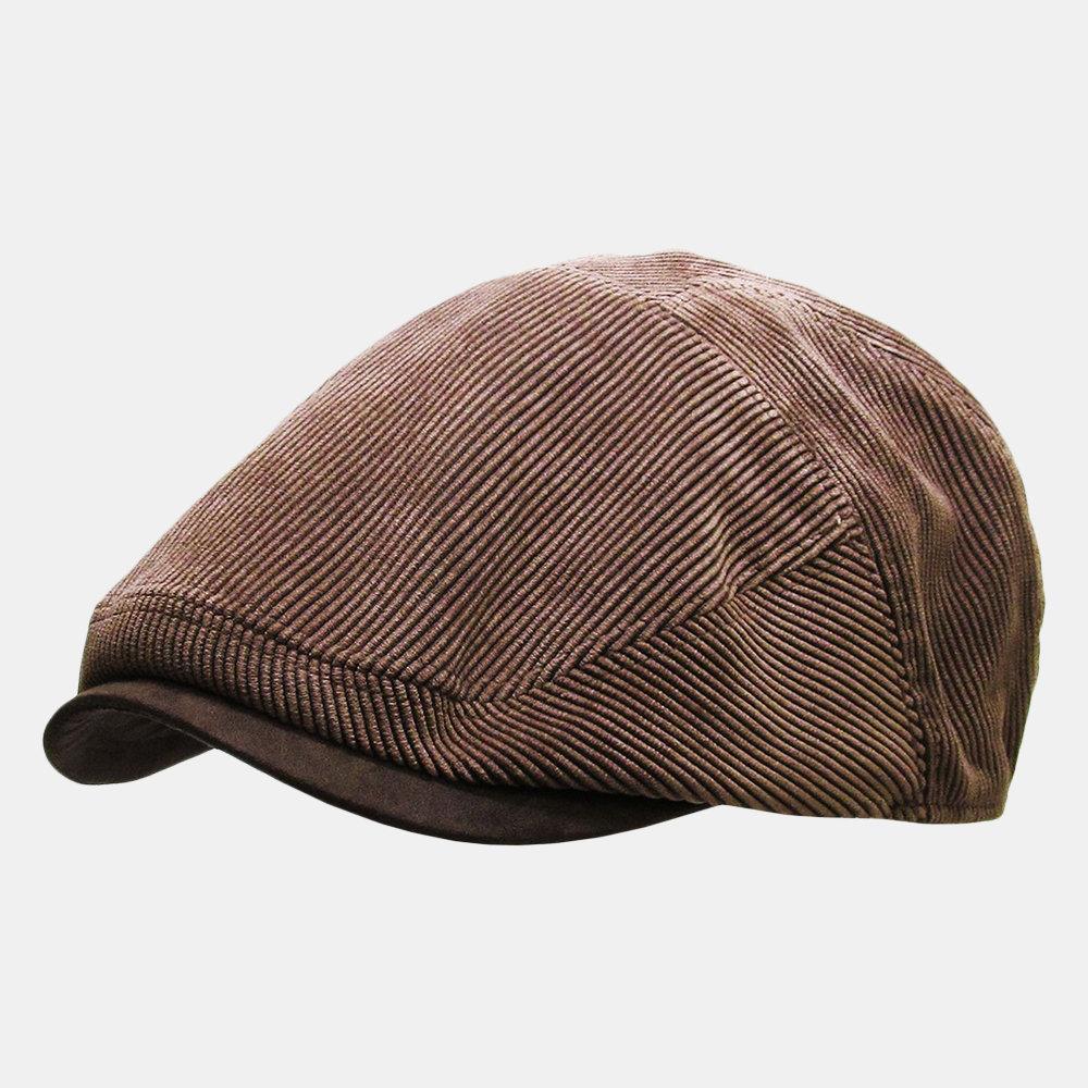 Men's Corduroy Newsboy Cap Winter Beret Hat