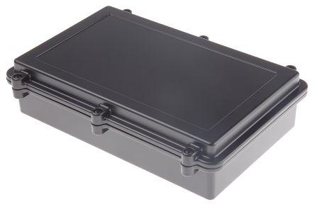 RS PRO Black Die Cast Aluminium Enclosure, IP67, Shielded, 274 x 173 x 66mm