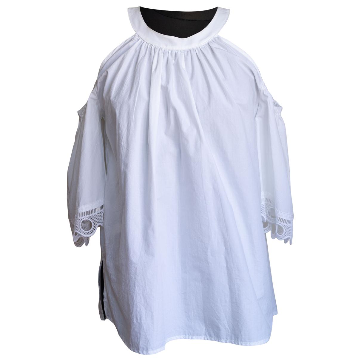 Ottodame - Top   pour femme en coton - blanc