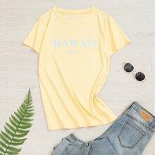 Camiseta con estampado de letra