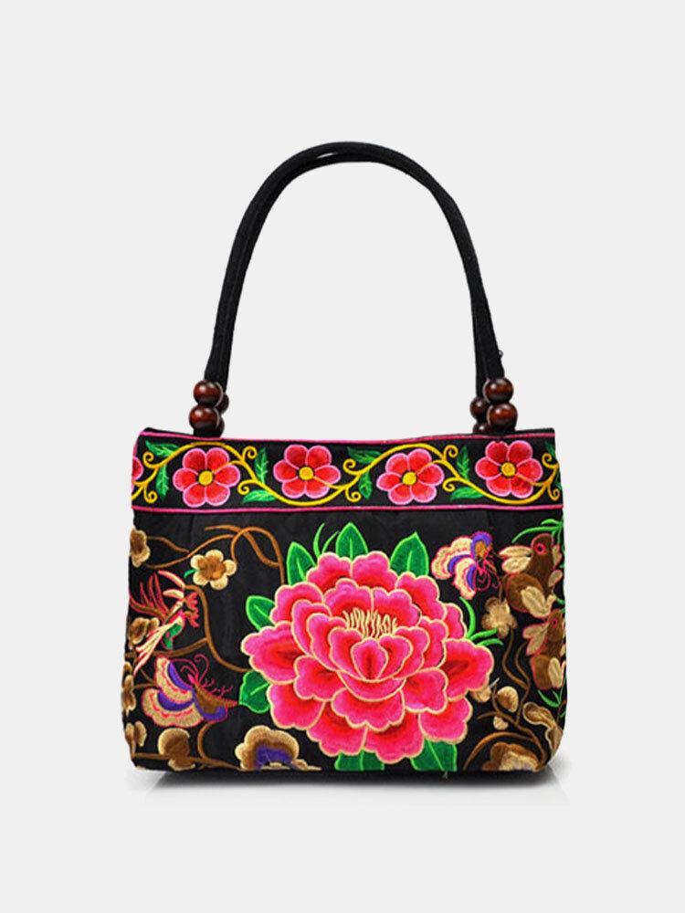 Women Ethnic Embroidered Floral Handbag Shoulder Bag