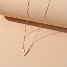 Metal Letter Pendant Necklace