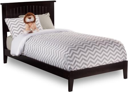 Nantucket Collection AR8211001 Twin Extra Long Size Platform Bed with Open Foot Board  Cottage Style  Hardwood Slat Kit and Eco-Friendly Solid