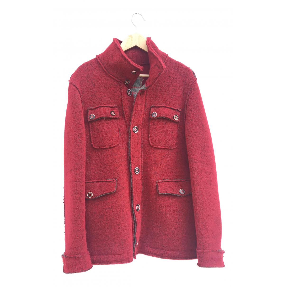 - Manteau   pour homme en laine - rouge