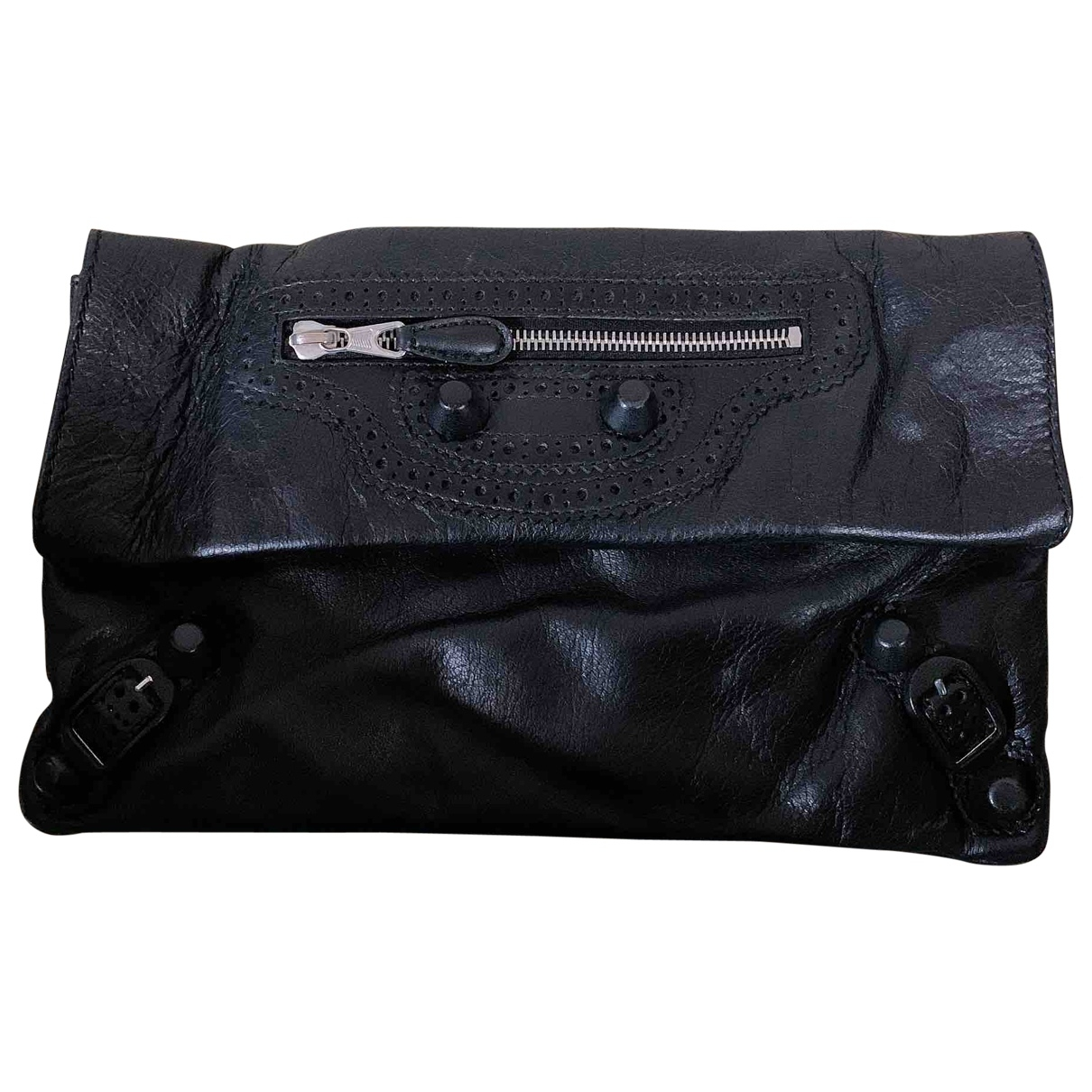 Balenciaga Envelop Black Leather Clutch bag for Women \N