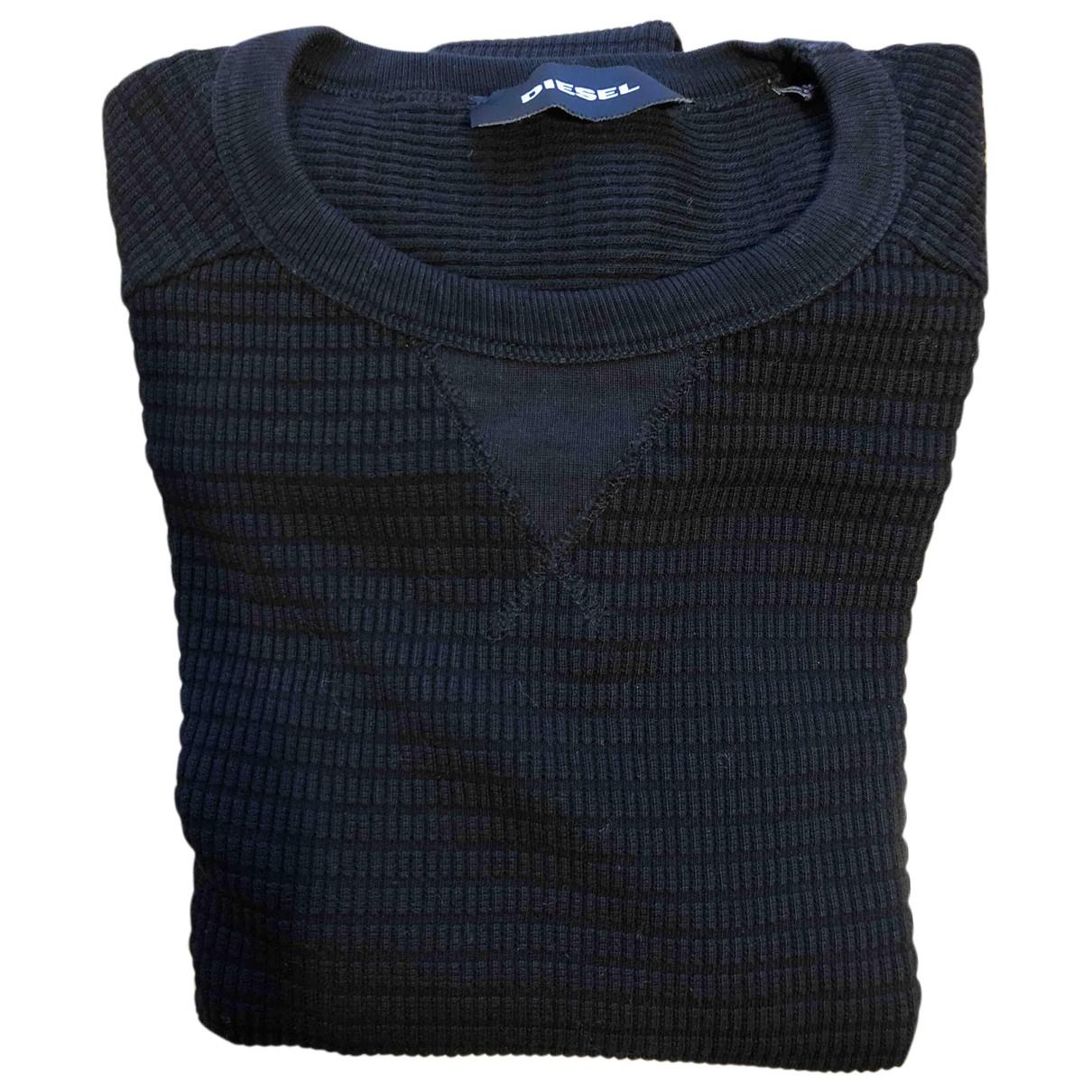 Diesel \N Pullover.Westen.Sweatshirts  in  Blau Baumwolle