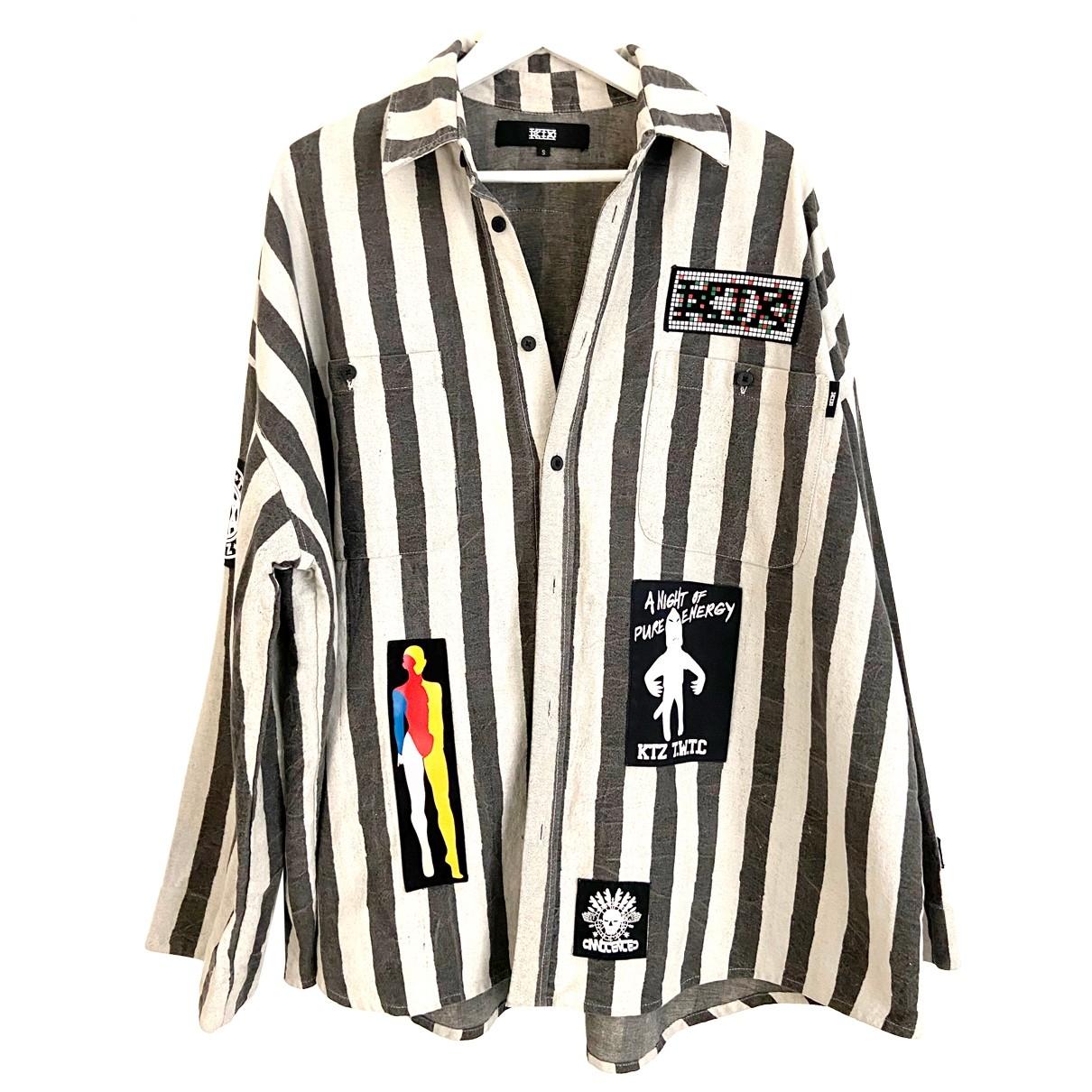 Ktz - Chemises   pour homme en denim - multicolore