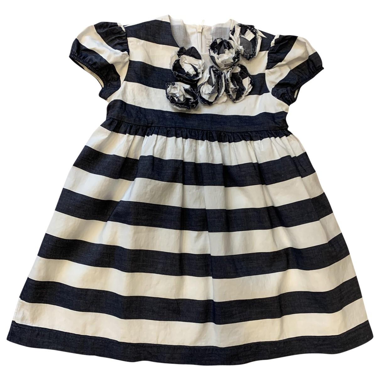 Il Gufo - Robe    pour enfant en coton - bleu
