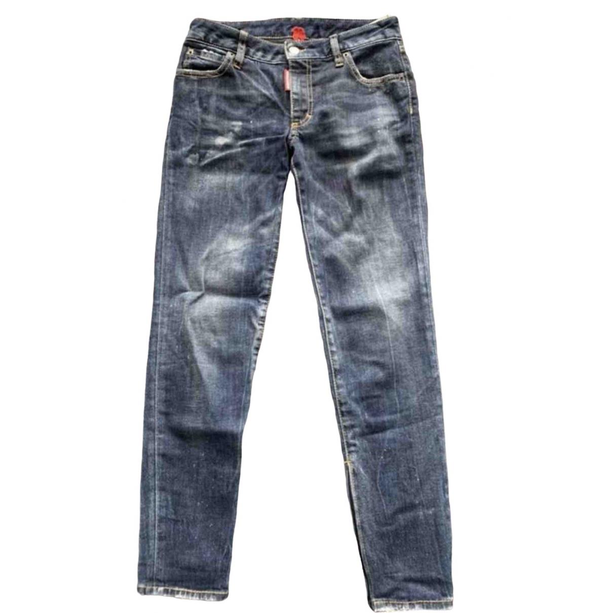 Dsquared2 \N Blue Denim - Jeans Jeans for Women 34 FR