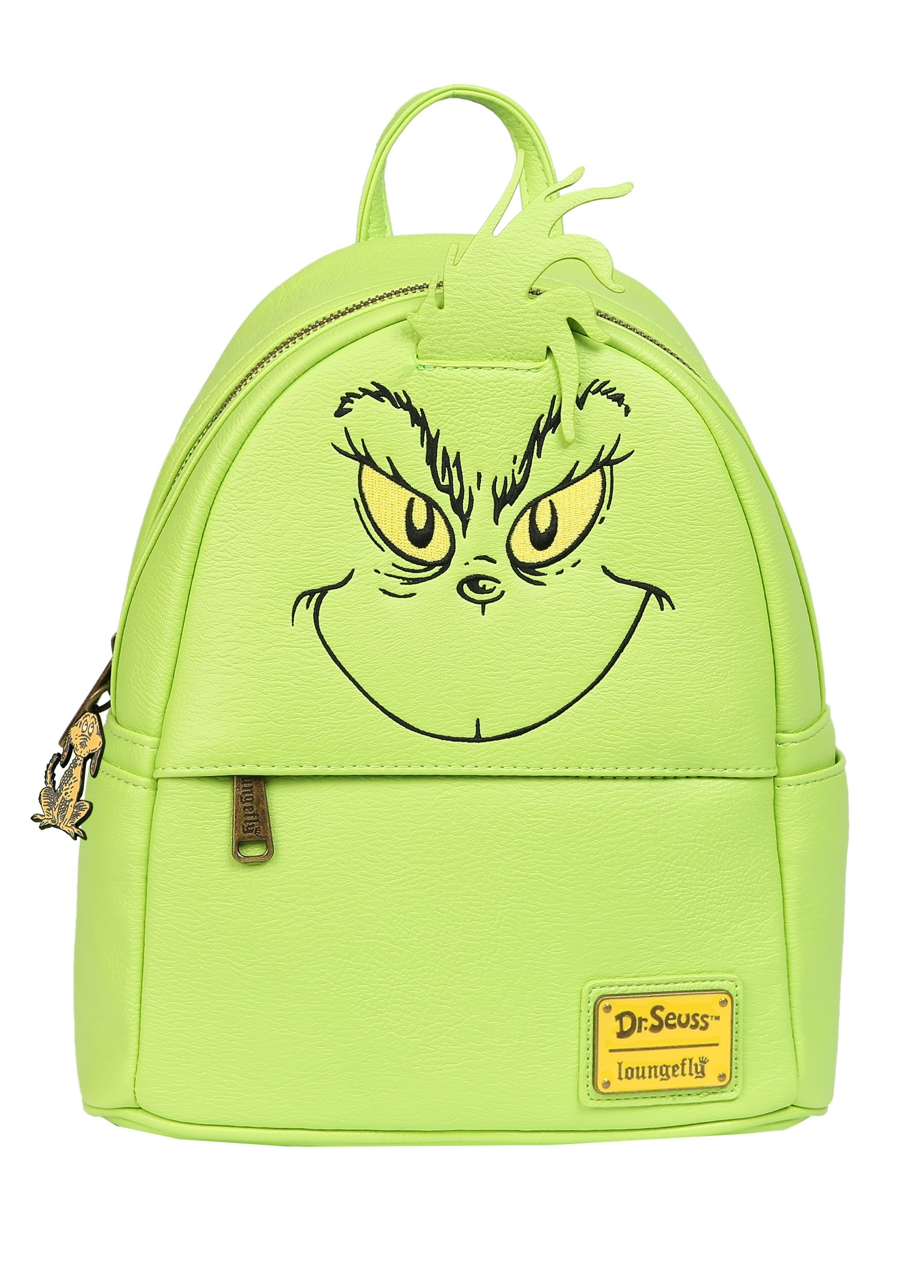 Loungefly Faux Leather The Grinch Mini Backpack
