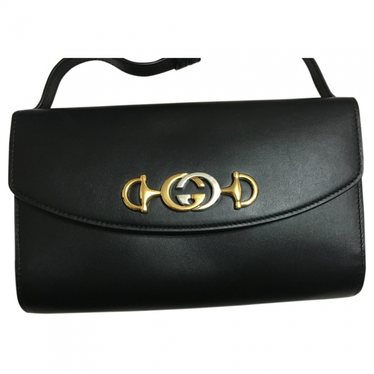 Gucci Zumi Clutch in  Schwarz Leder