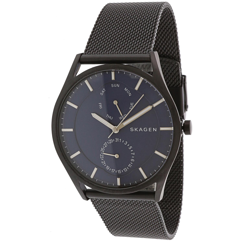 Skagen Men's Holst Watch - Black / Black / Blue