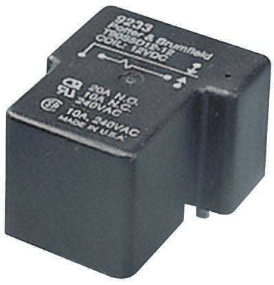 TE Connectivity , 5V dc Coil Non-Latching Relay SPDT, 30A Switching Current PCB Mount Single Pole