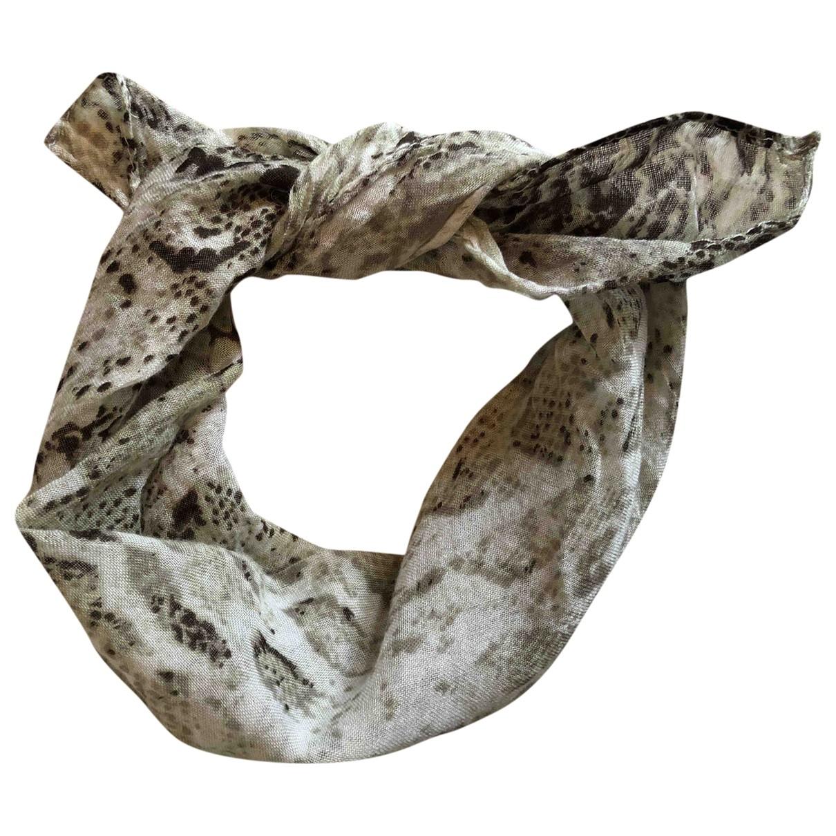 Maje \N Khaki scarf for Women \N