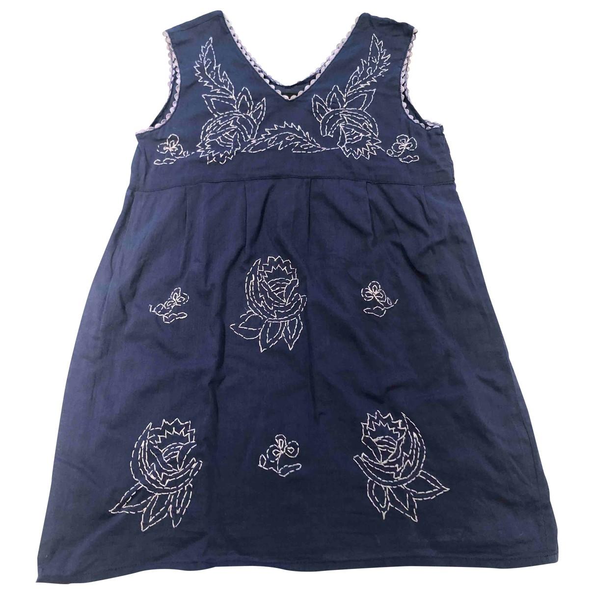 Antik Batik - Robe    pour enfant en coton - bleu