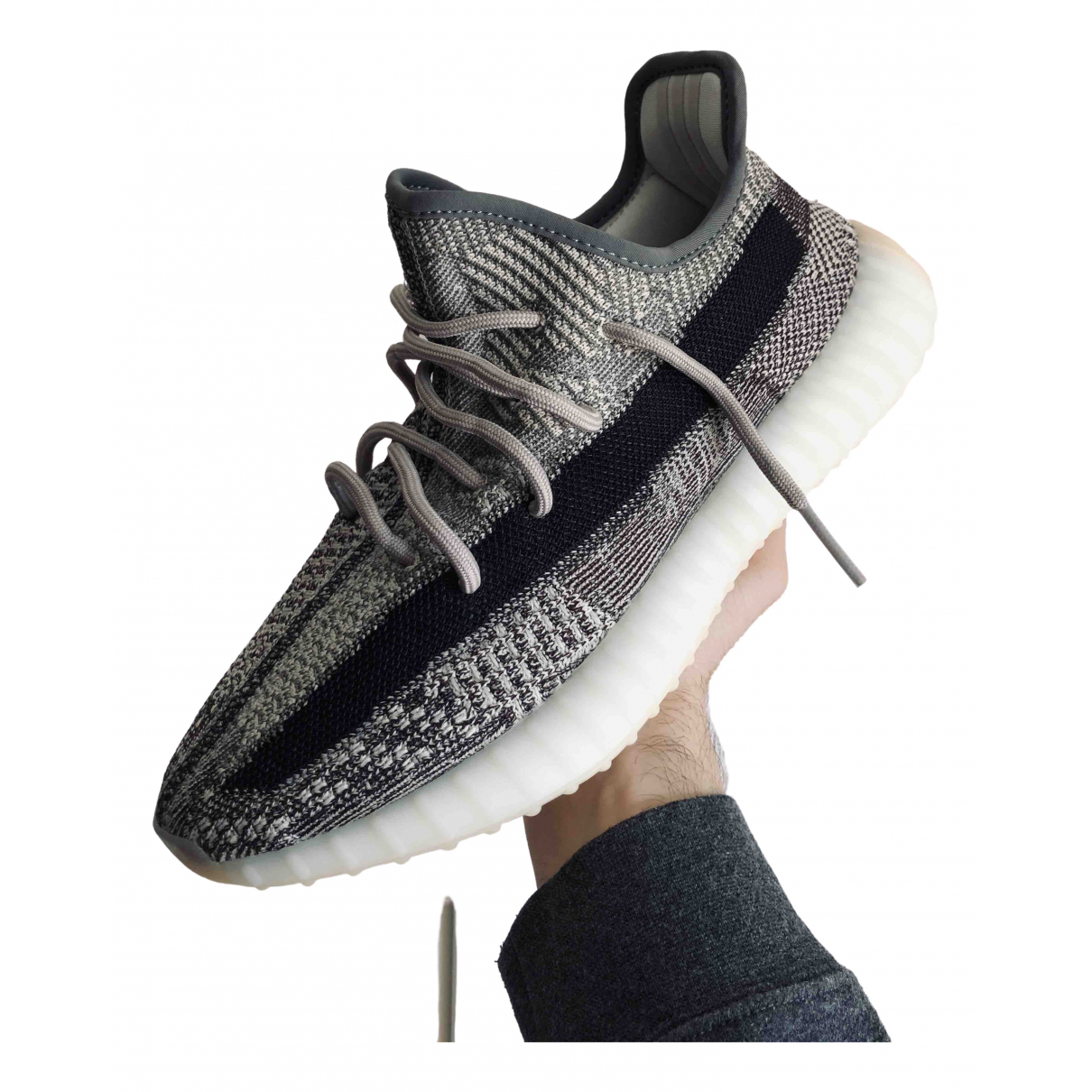 Yeezy X Adidas Boost 350 V2 Grey Cloth Trainers for Men 8.5 US