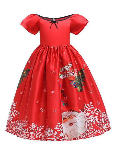 Milanoo Child Christmas Cosplay Red Dress Kids Princess Dress Outfits Halloween