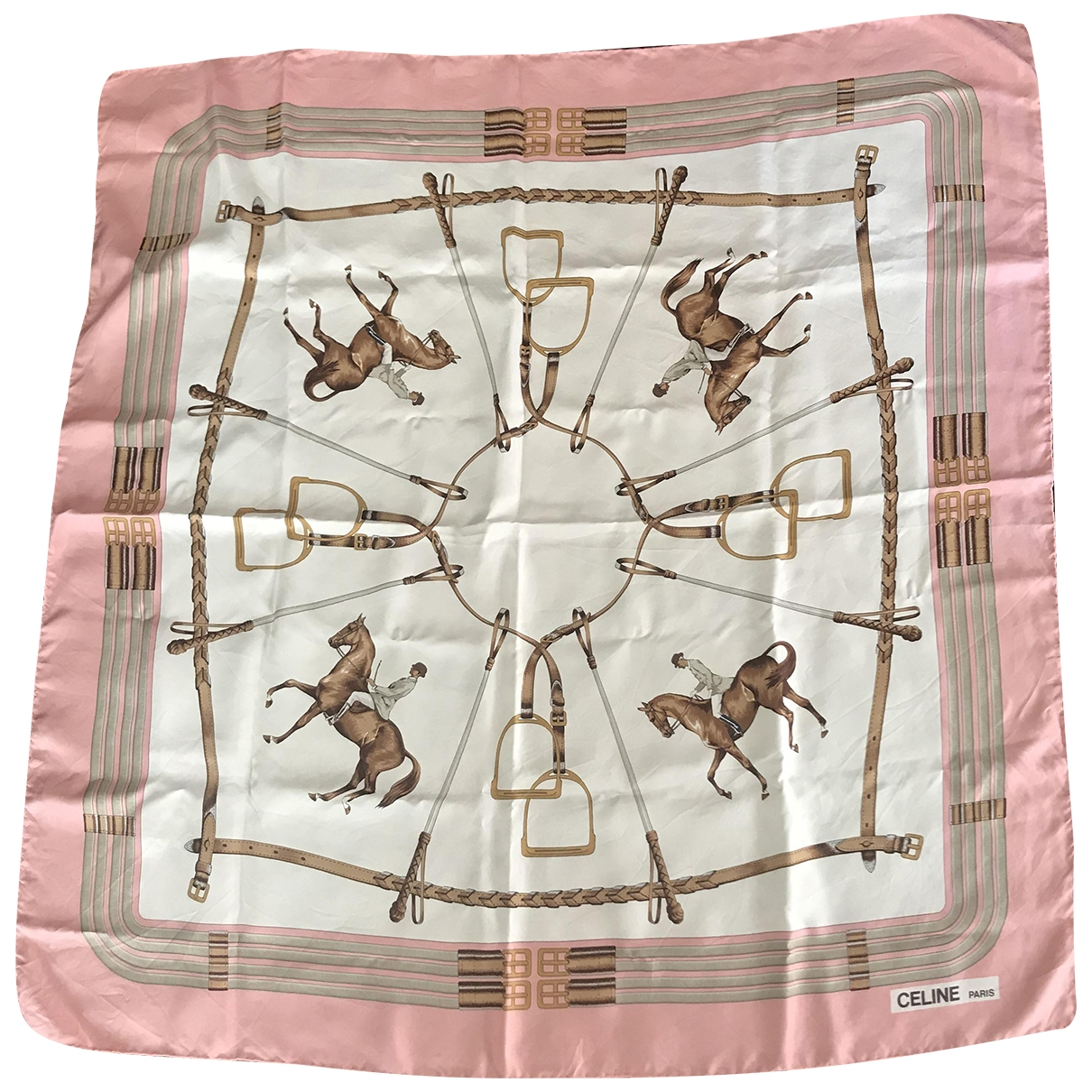 Celine \N Pink Silk Silk handkerchief for Women \N