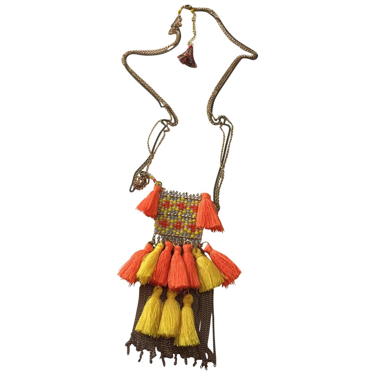Collar Motifs Ethniques de Lona Non Signe / Unsigned