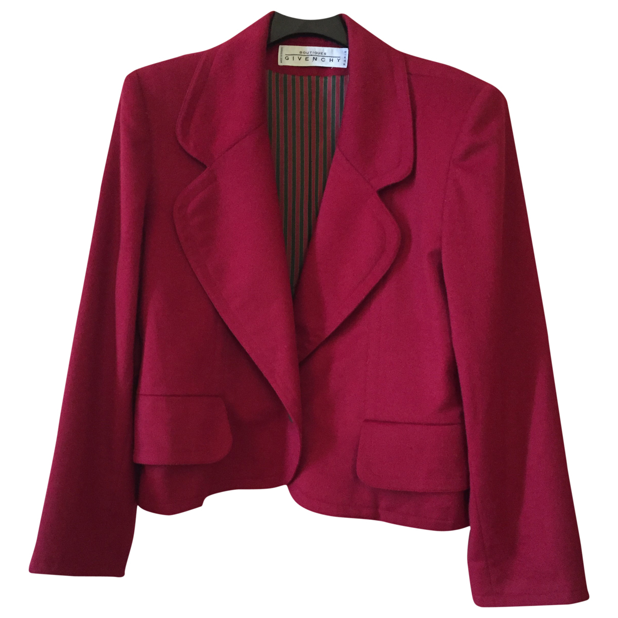 Givenchy \N Jacke in  Rot Wolle
